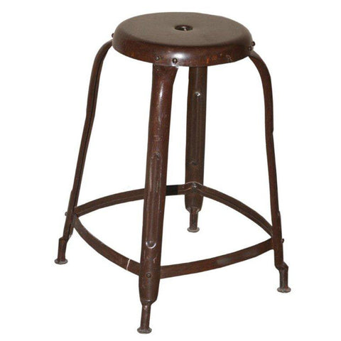 Distressed Metal Counter Height Stool - Furniture - George & Augie