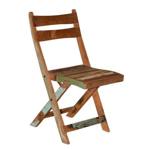 Reclaimed Wood Folding Chair - Furniture - George & Augie