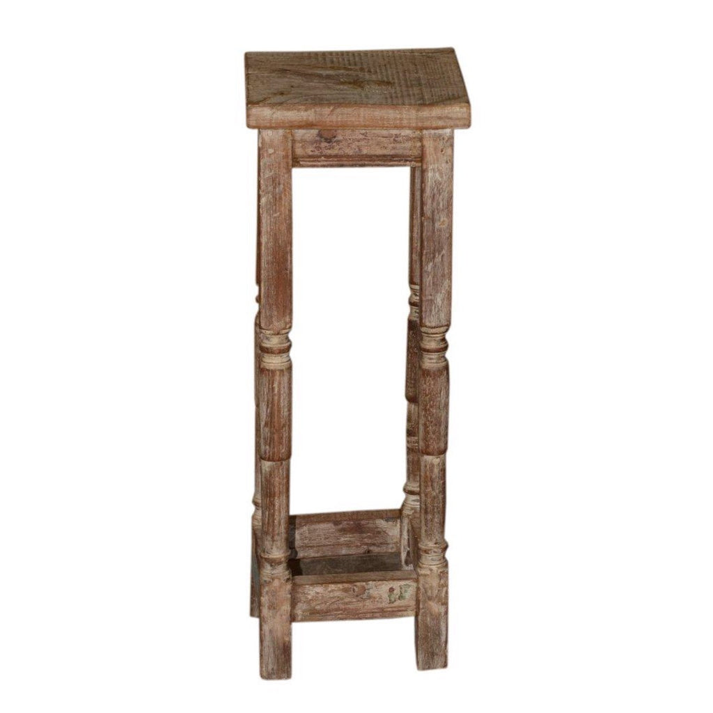 Reclaimed Wood Side Table - Furniture - George & Augie