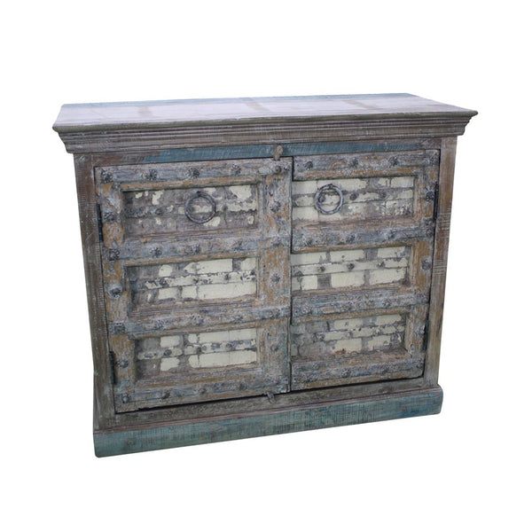 Antique Door and Reclaimed Wood Credenza - Furniture - George & Augie