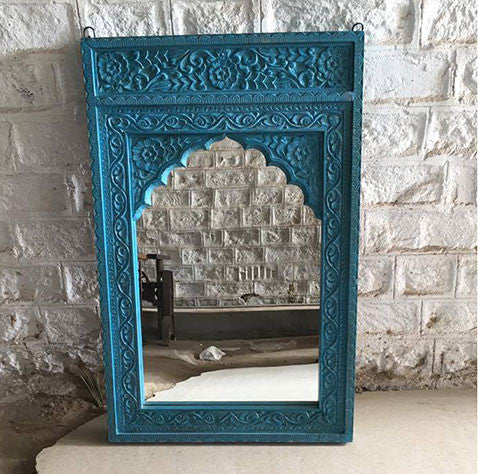 Hand Carved Mirror - Decor - George & Augie