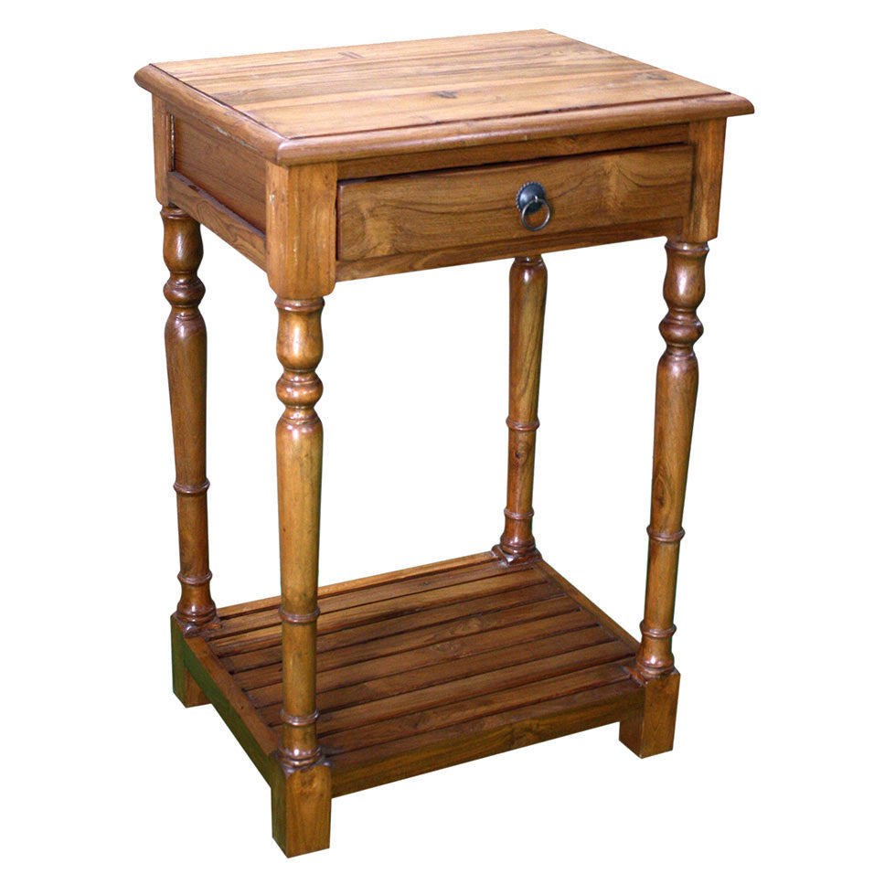 Teak Wood Side Table - Furniture - George & Augie
