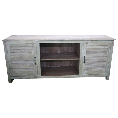 Shutter Door Media Console - Furniture - George & Augie