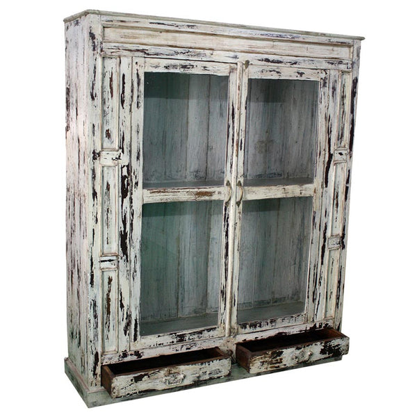 Antique 2 Door Cupboard with Drawers - Furniture - George & Augie