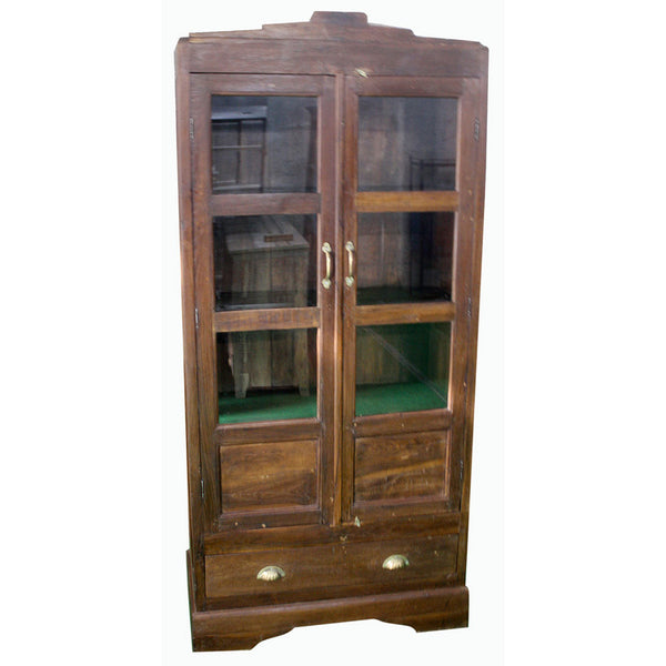 Antique 2 Door Cabinet with Drawer - Furniture - George & Augie