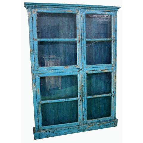 Antique 4 Door Thin Cabinet - Furniture - George & Augie