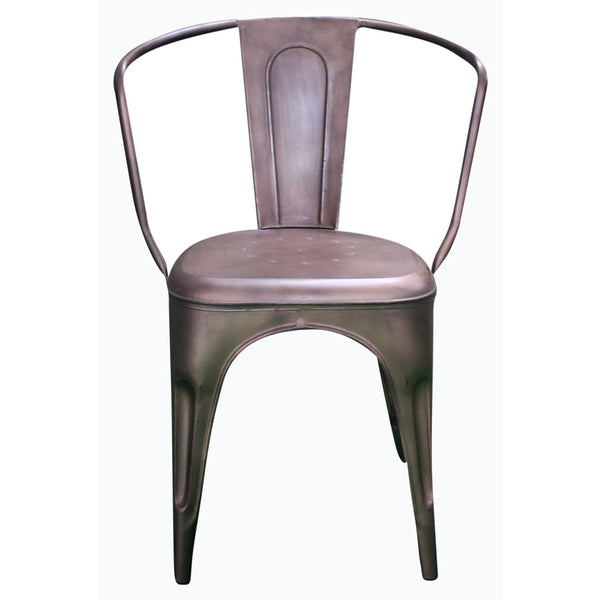 Curved Back Metal Chair - Furniture - George & Augie
