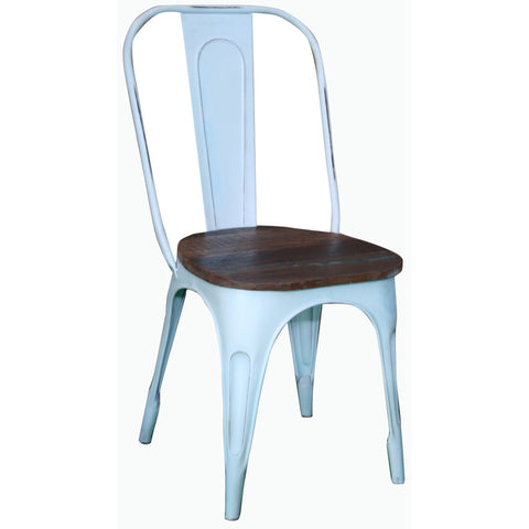 Metal Chair with Reclaimed Wood Seat - Furniture - George & Augie