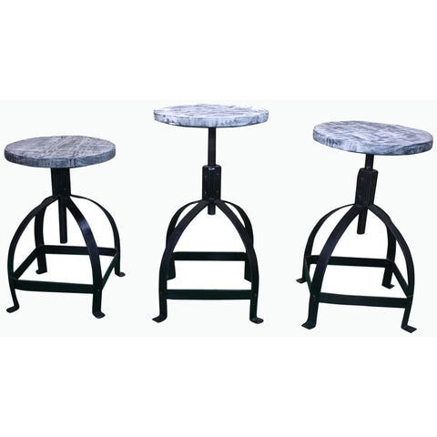 Round Adjustable Height Stools - Assorted Colors - Furniture - George & Augie