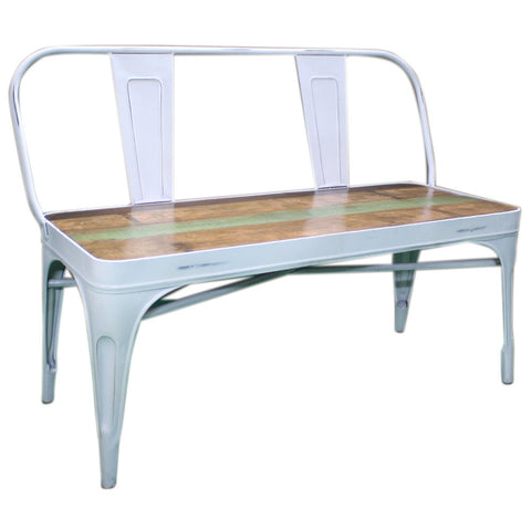 Metal Bench with Reclaimed Wood Seat - Furniture - George & Augie