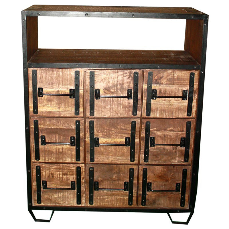 Industrial 9 Drawer Dresser - Furniture - George & Augie