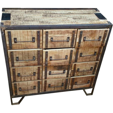 Industrial 12 Drawer Dresser - Furniture - George & Augie