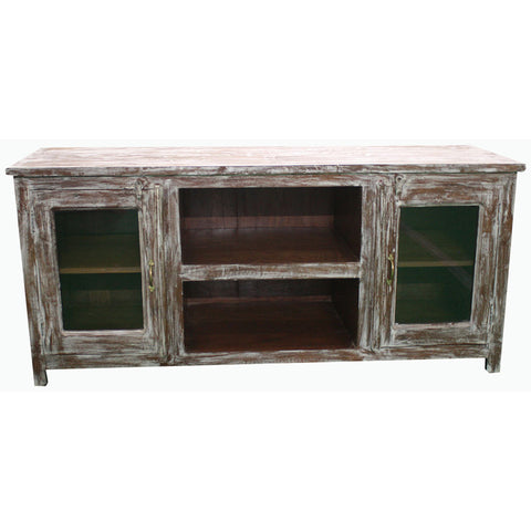 Wooden Media Console - Furniture - George & Augie