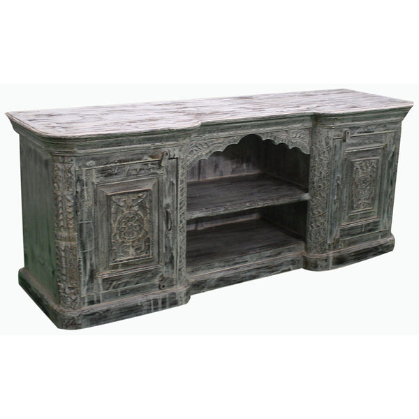 Hand Carved Media Console - Furniture - George & Augie