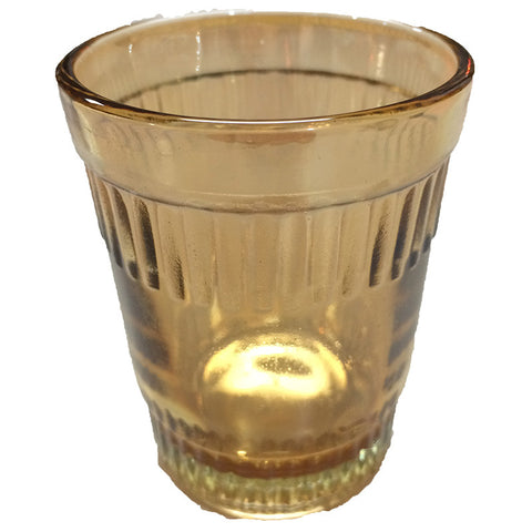 Flat Bottom Amber Tea Glass - Decor - George & Augie