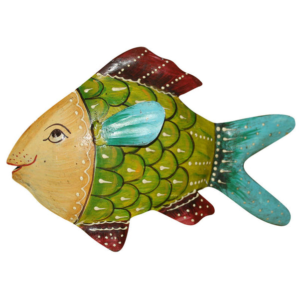 Hand Painted Metal Fish - Decor - George & Augie