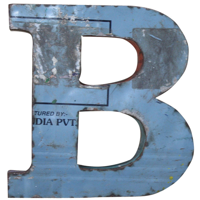 Recycled Metal Letters B - Decor - George & Augie