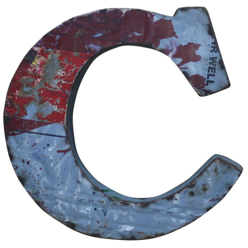 Recycled Metal Letters C - Decor - George & Augie