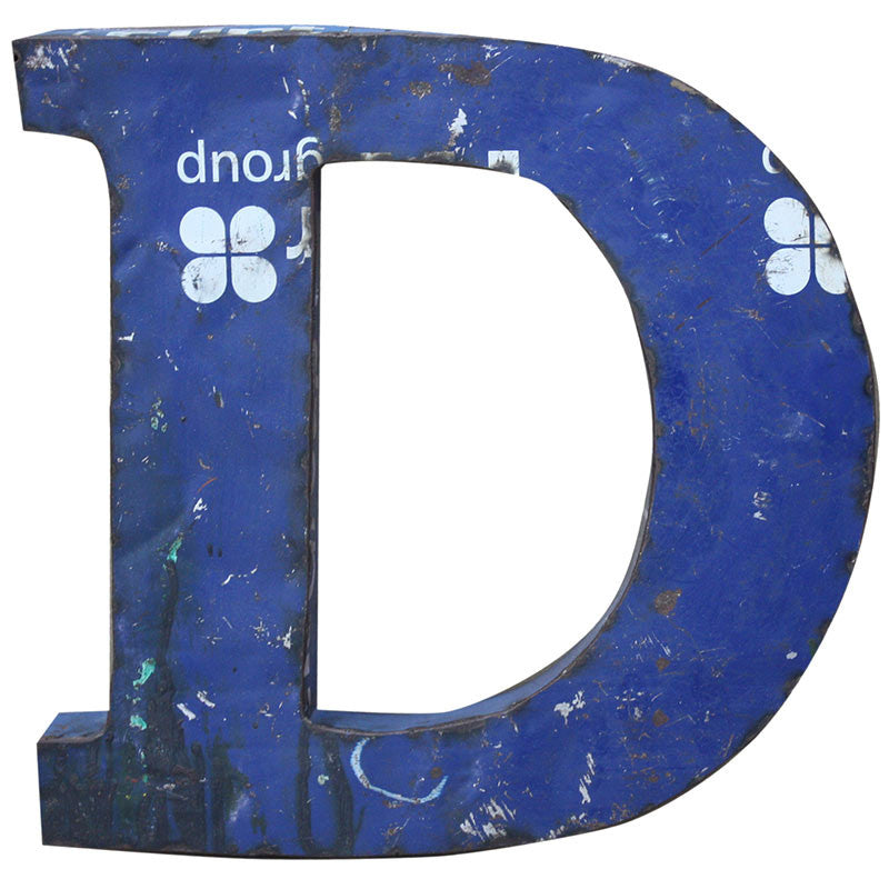 Recycled Metal Letters D - Decor - George & Augie