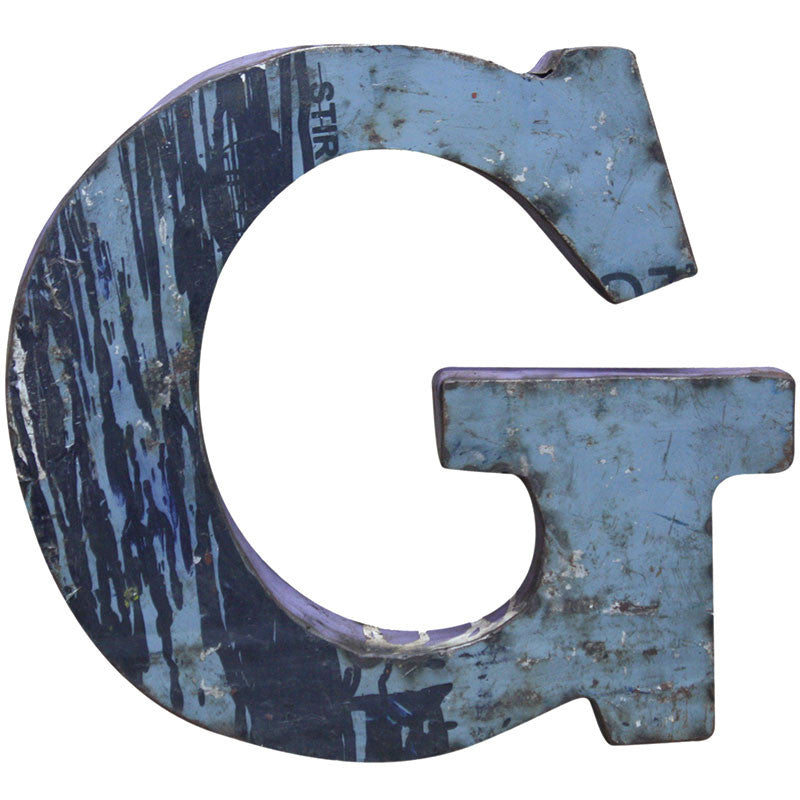 Recycled Metal Letters G - Decor - George & Augie
