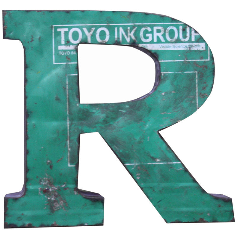 Recycled Metal Letters R - Decor - George & Augie
