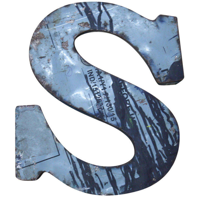 Recycled Metal Letters S - Decor - George & Augie