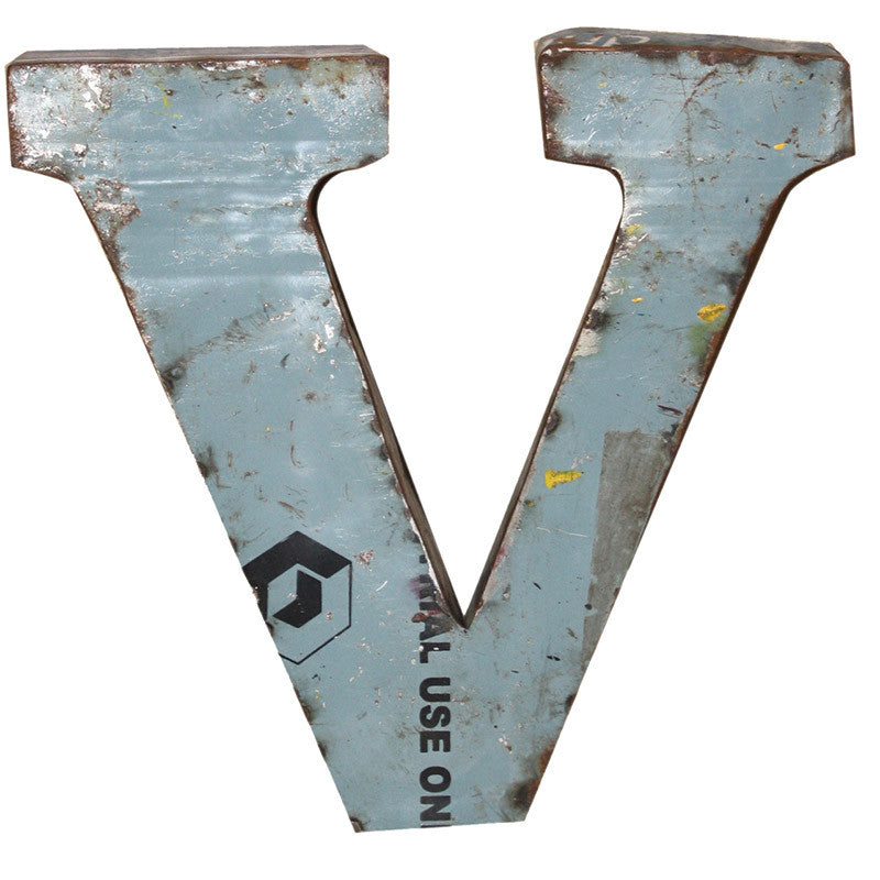 Recycled Metal Letters V - Decor - George & Augie
