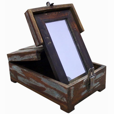 Wooden Box with Mirror - Decor - George & Augie