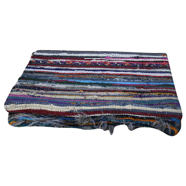 Recycled Fabric 4'x6' Rag Rug - Decor - George & Augie