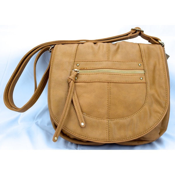 Flip Over Top Purse W/ Tassel - Khaki - Accessories - George & Augie
