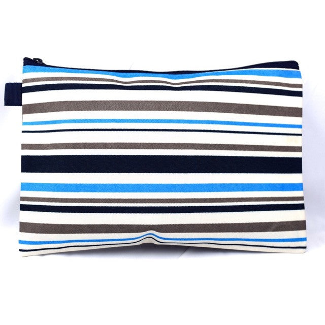 Large Zippered Cosmetic Bag - Accessories - George & Augie