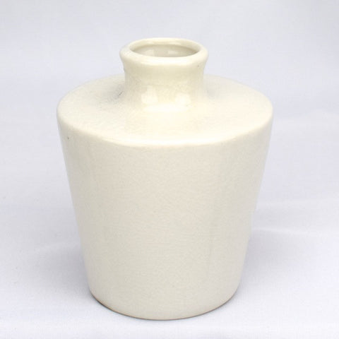 Cracked Finish Round Vase - Decor - George & Augie