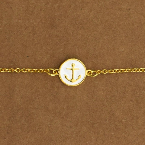 Anchor Bracelet - White - Accessories - George & Augie
