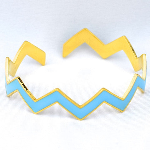 Chevron Light Blue Bracelet - Lt. Blue - Accessories - George & Augie