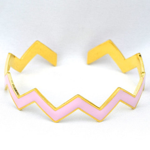 Chevron Pink Bracelet - Pink - Accessories - George & Augie