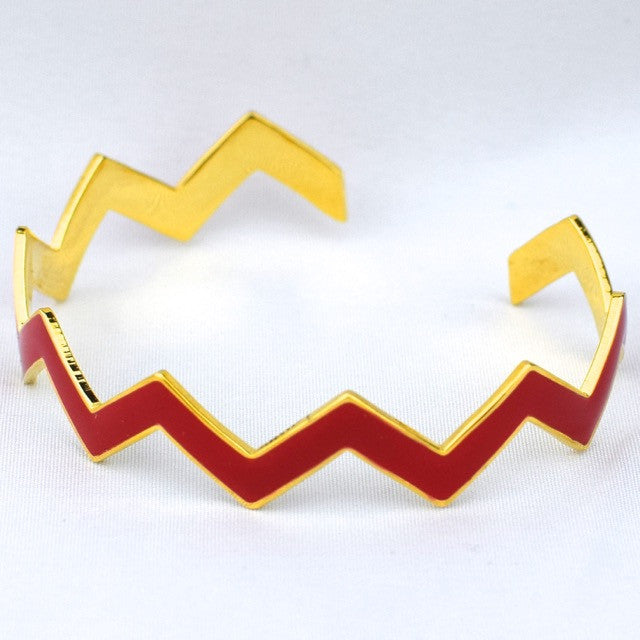Chevron Red Bracelet - Red - Accessories - George & Augie
