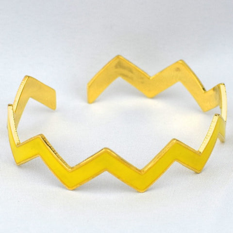 Chevron Yellow Bracelet - Yellow - Accessories - George & Augie