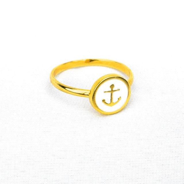 Anchor Ring Sz.7 - White - Accessories - George & Augie