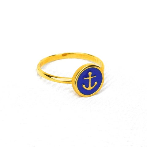 Anchor Ring Sz.7 - Blue - Accessories - George & Augie