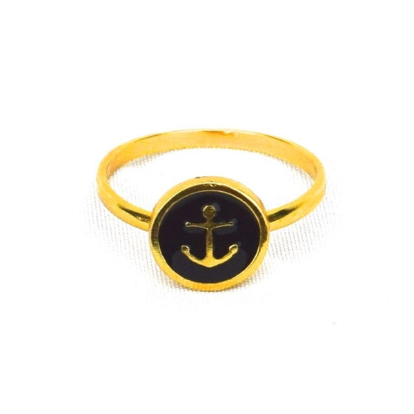 Anchor Ring Sz.7 - Black - Accessories - George & Augie