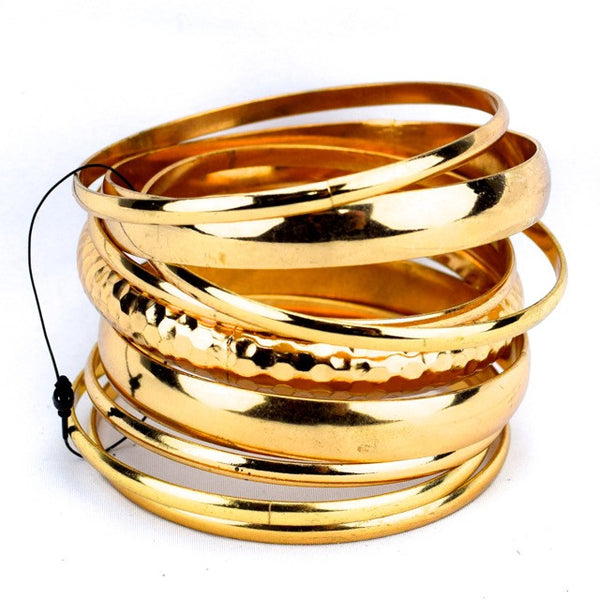 Simple Bangles Bracelet - Gold - Accessories - George & Augie