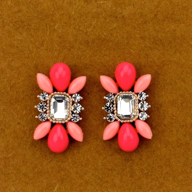Pink Burst Earrings - Pink - Accessories - George & Augie