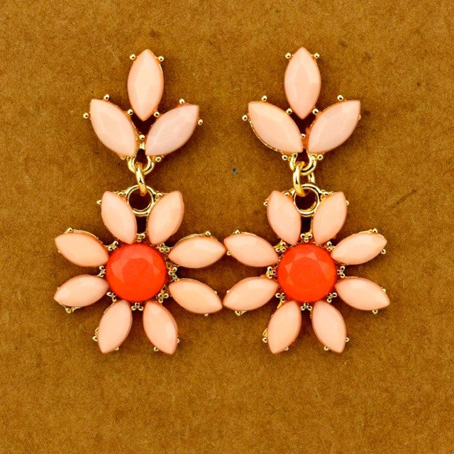 Flower Dangle Earrings - Lt. Pink - Accessories - George & Augie