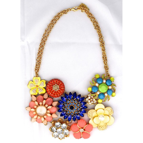 Flower Brooch Necklace - Big - Accessories - George & Augie