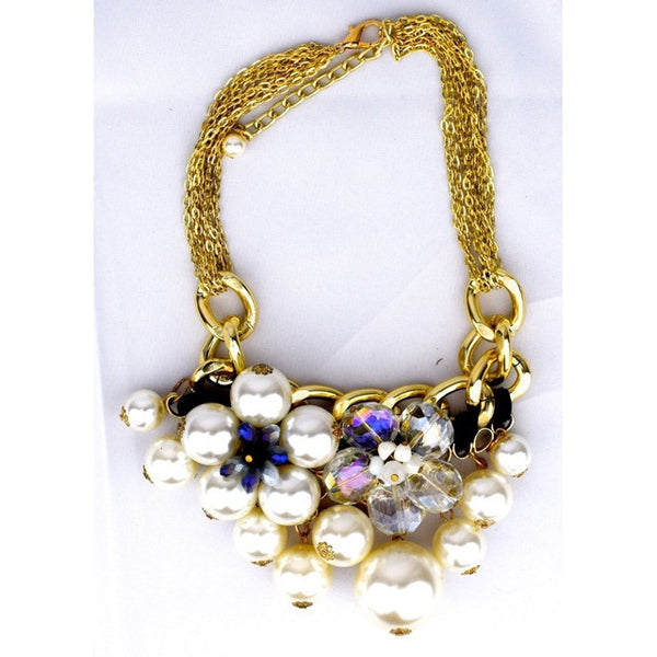 Flower & Pearls Necklace - Accessories - George & Augie