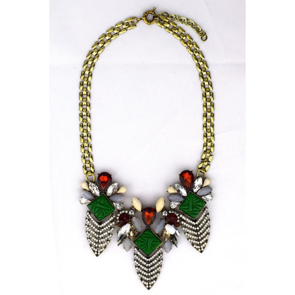 Jeweled Leaves Necklace - Accessories - George & Augie