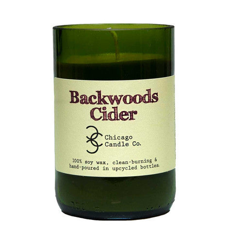 Backwoods Cider Recycled Wine Bottle Soy Candle 11oz - Decor - George & Augie