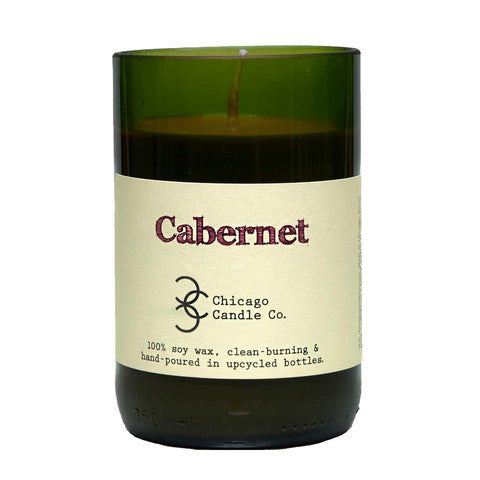 Cabernet Recycled Wine Bottle Soy Candle 11oz - Decor - George & Augie