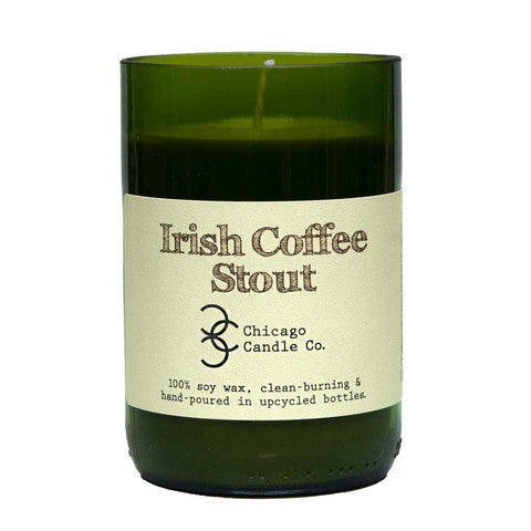 Irish Coffee Stout Recycled Wine Bottle Soy Candle 11oz - Decor - George & Augie
