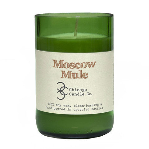Moscow Mule Recycled Wine Bottle Soy Candle 11oz - Decor - George & Augie